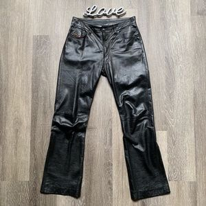 Diesel Vintage Leather Pants Size 27